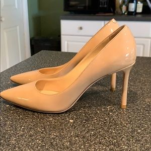Jimmy Choo Romy 85mm nude patent leather